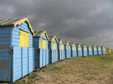 Littlehampton - Beach Huts, Sussex © Pam Brophy